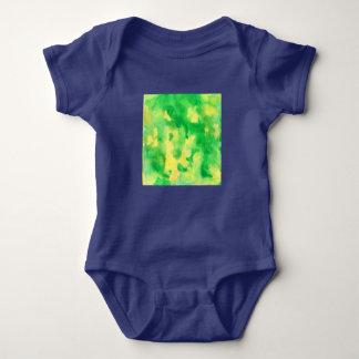 Yellow Green Watercolor Baby Jersey Bodysuit