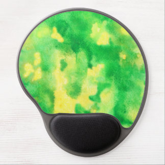 Yellow Green Watercolor Gel Mousepad Gel Mouse Mat