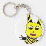 Yellow Gremlin Basic Round Button Key Ring