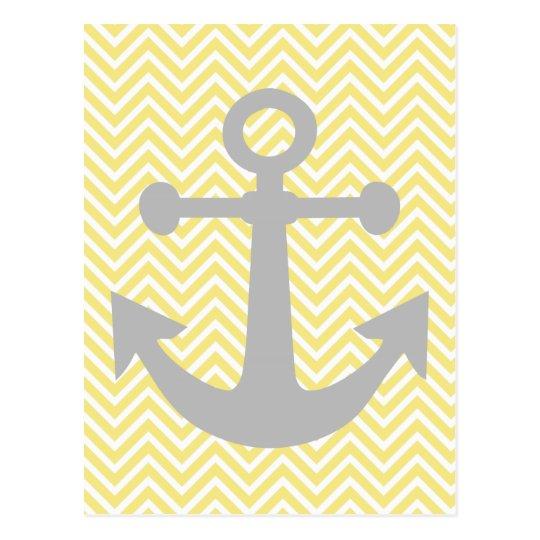 Yellow & Grey Anchor Nautical Pastel by Lara