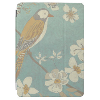 Yellow, Grey and Beige Bird Perched on a Branch iPad Air Cover