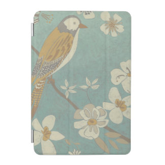 Yellow, Grey and Beige Bird Perched on a Branch iPad Mini Cover