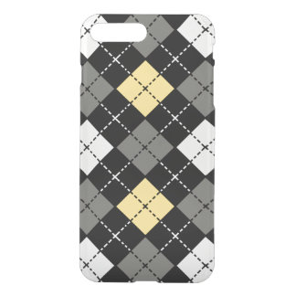 Yellow Grey and White Argyle Pattern iPhone 8 Plus/7 Plus Case