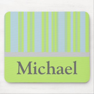 yellow grey blue stripes mouse pad