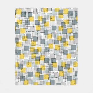 Yellow & Grey Building Blocks Blanket