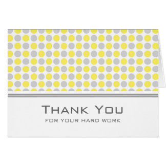Yellow Grey Dots Employee Anniversary Card