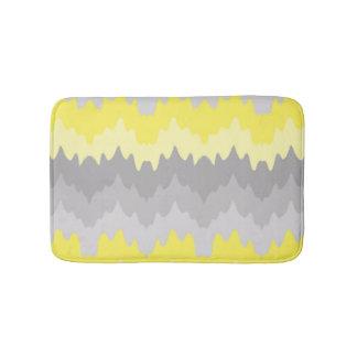Yellow Grey Gray Ombre Chevron Zigzag Bath Mat