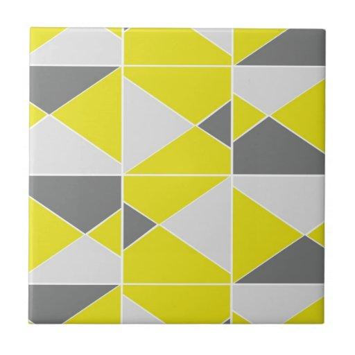 Yellow Grey Pattern Tiles