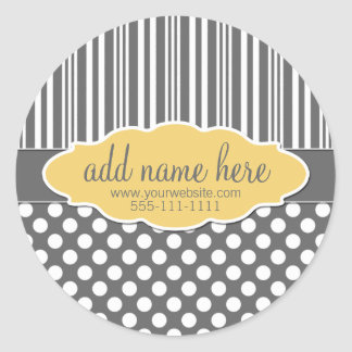 Yellow & Grey Product Label