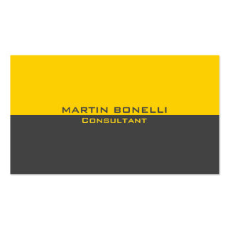 Yellow Grey Special Unique Plain Clean Pack Of Standard Business Cards