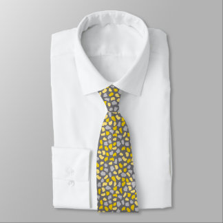 Yellow/Grey Stones Neck Tie