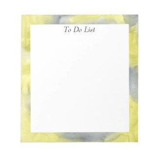 Yellow/Grey Watercolor Notepad
