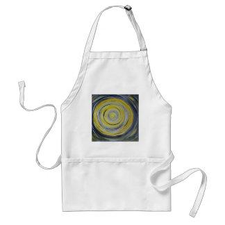 yellow grey white circles standard apron