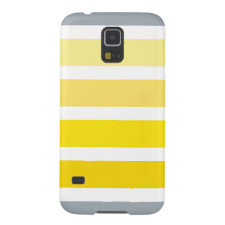 Yellow Grey White Stripes Galaxy S5 Covers