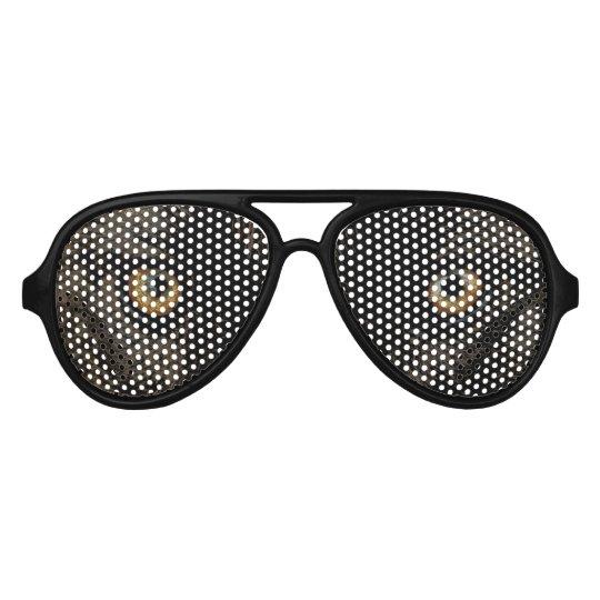 Yellow Grey Wolf Eyes - Wildlife Aviator Sunglasses