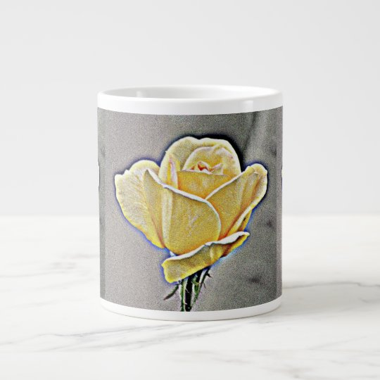 Yellow Gritty Rose Coffee Cup/Mug Large Coffee Mug