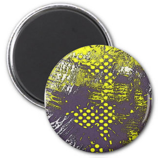 Yellow Grunge Abstract Magnets