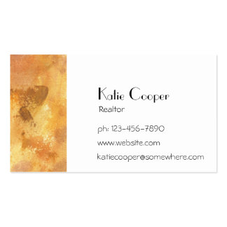Yellow Grunge Business Cards