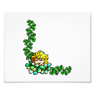 yellow hair sprite clover corner png photographic print