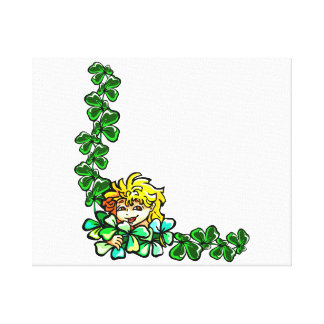 yellow hair sprite clover corner.png stretched canvas prints