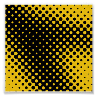 Yellow Halftone Poster