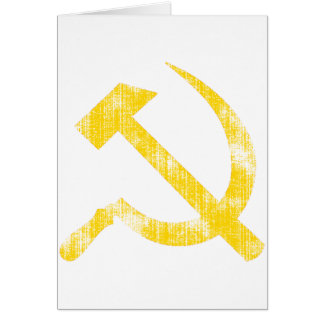 Yellow Hammer Sickle Cards