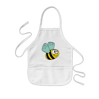 Yellow Happy Bee Tshirts and Gifts Kids' Apron