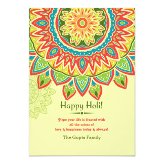 Yellow Happy Holi Invitation