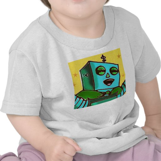 Yellow Happy Robot Infant T-Shirt