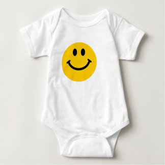 Yellow happy smiley face baby shirt