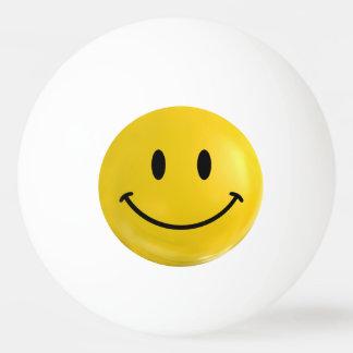 Yellow Happy Smiley Ping Pong Ball
