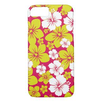 Yellow Hawaii Flowers Design iPhone 7 Case