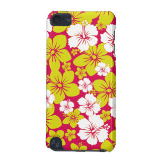 Yellow Hawaii Flowers Design iPod Touch 5G Cover