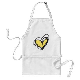 Yellow Heart Apron — Trendy & Elegant