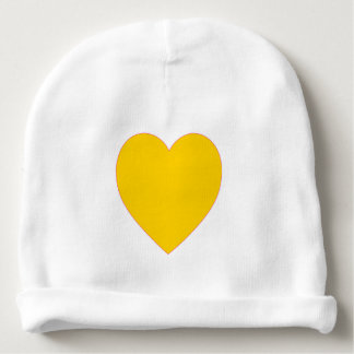 Yellow Heart Beanie Baby Hat Baby Beanie