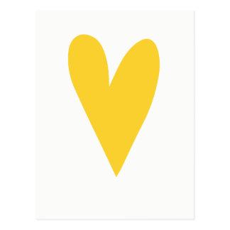 Yellow Heart  Chin up buttercup   Motivational Postcard