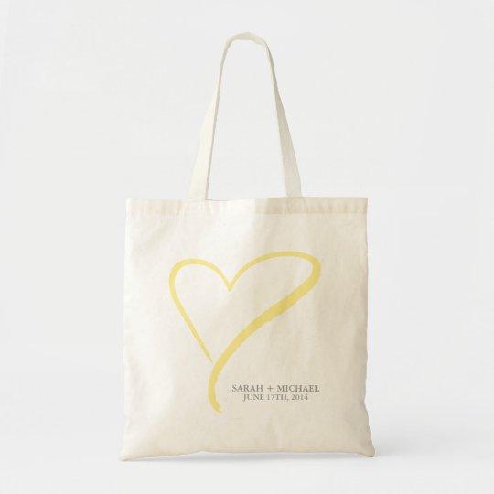 Yellow Heart Doodle