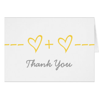 Yellow Heart Equation Thank You Card