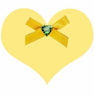 Yellow Heart Ornament Photo Cutout