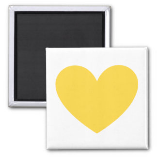 Yellow heart square magnet