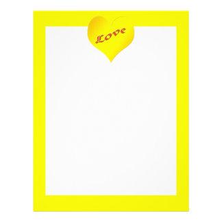 yellow heart Valentines 21.5 Cm X 28 Cm Flyer