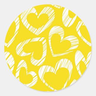 Yellow hearts Sticker