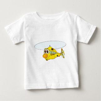 Yellow Helicopter Cartoon Baby T-Shirt