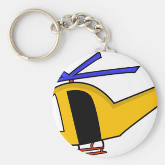 Yellow Helicopter Key Ring