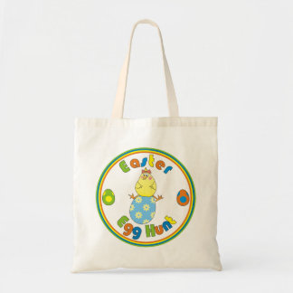 Yellow Hen on Egg Funny Easter Bags