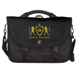 Yellow Heraldic Rose Laptop Bag