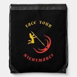 Yellow Hero vs Red Monster Drawstring Backpack