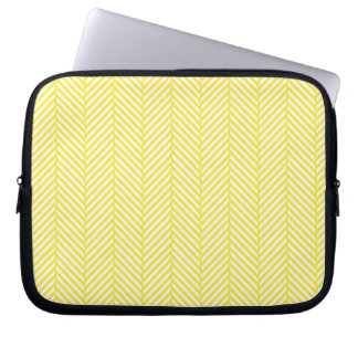 Yellow Herringbone Laptop Sleeve