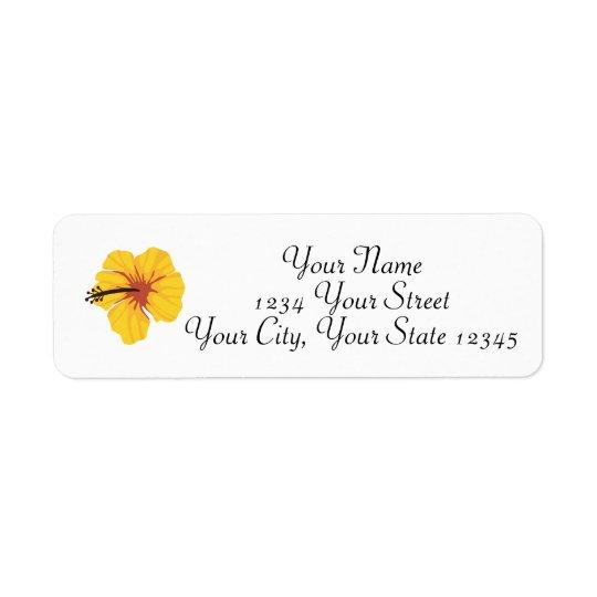 Yellow Hibiscus Address Label