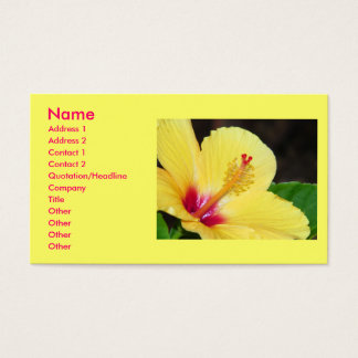 Yellow Hibiscus Business Card